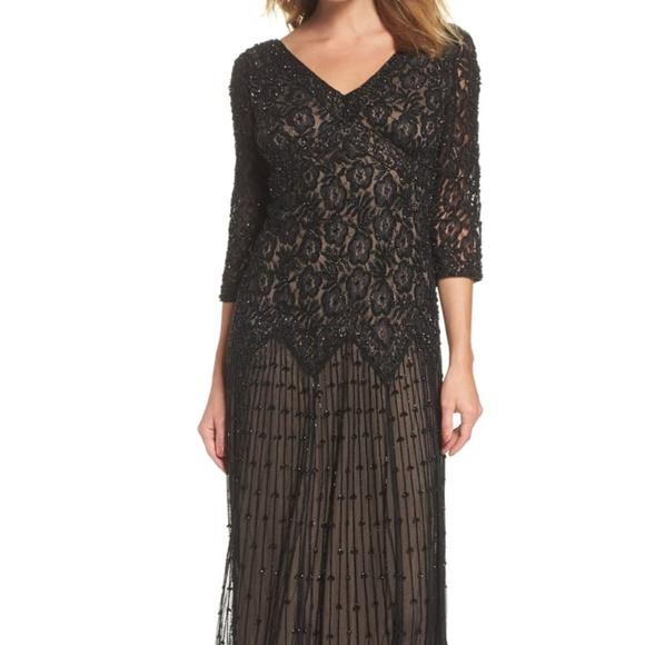 Pizarro Nights Beaded Mesh Dress Plus size NWT